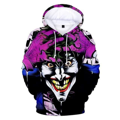Boutique Joker Sweat 2 / M Sweat Joker <br> Sourire Psychédélique Joker