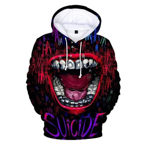Boutique Joker Sweat 3 / XXXL Sweat Joker <br> Rire Narquois Joker