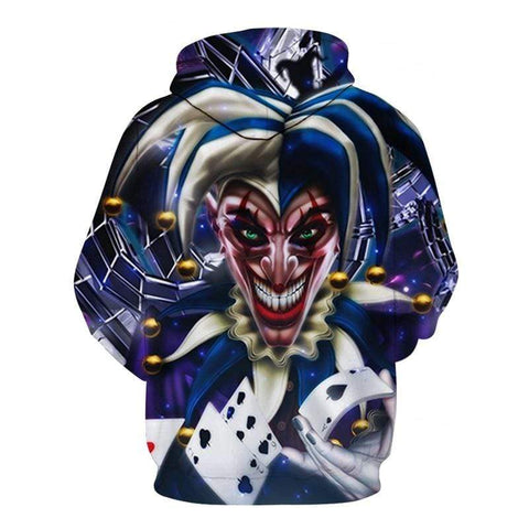 Boutique Joker Sweat AFKH3272 / 4XL Sweat Joker <br> Rire Diabolique Joker