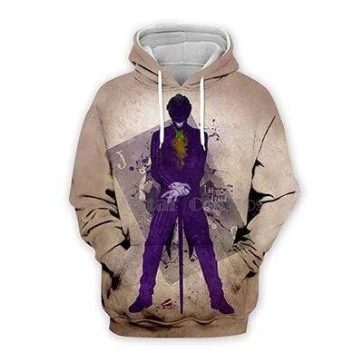 Boutique Joker Sweat hoodies / 6XL Sweat Joker <br> Costume Violet Joker