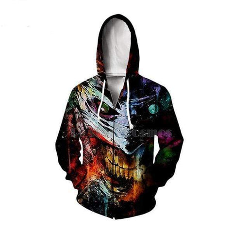 Boutique Joker Sweat zip hoodies / 7XL Sweat <br> Coté Obscur Du Joker Joker