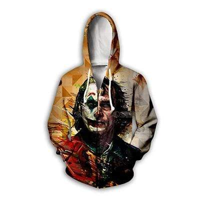 Boutique Joker Sweat zip hoodies / 7XL Sweat Joker <br> Demi Masqué Joker
