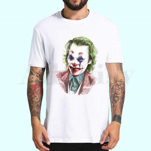 Boutique Joker T-shirt 4XL T-shirt Joker <br> Buste de Clown Joker