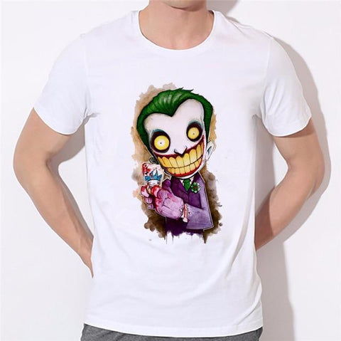 Boutique Joker T-shirt 9 / S The clown king men T shirt joker batman why so serious BRUCE WAYEN cosplay jersey boy top tee costume jersey 32-41# Joker