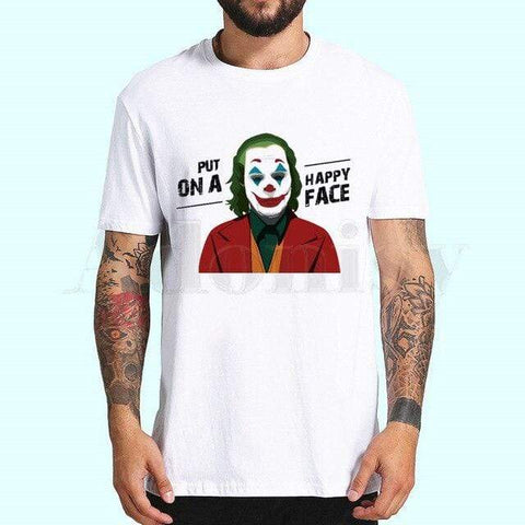 "Boutique Joker T-shirt XXL / China T-shirt Joker <br> "" Put On a Happy Face "" Joker"