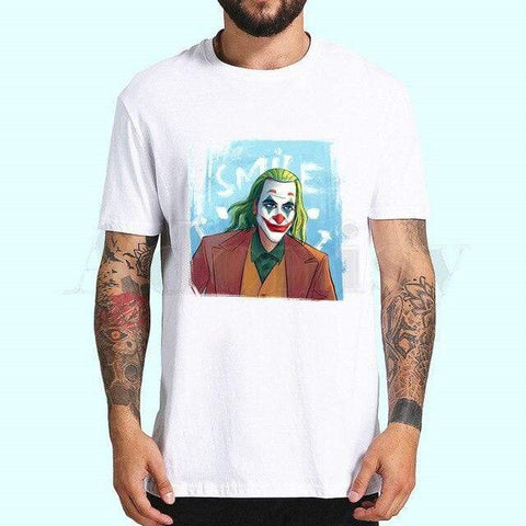 Boutique Joker T-shirt XXL / China T-shirt Joker <br> Sourire Classique Joker
