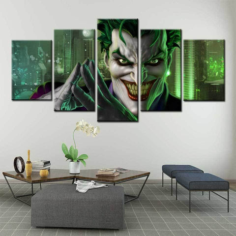 Boutique-Joker THE JOKER Universe Online Game Art Painting Poster Artwork 5 pcs Module Canvas Paintings Art Prints Pictures Boys Bedroom Decor Joker