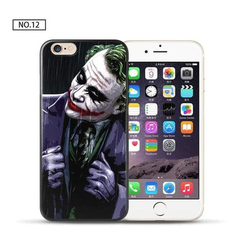 Comics-Joker for iPhone 5 5S SE / 12 For coque iPhone 6S case Joker for iPhone X case 2018 new arrivals for fundas iPhone XR case 5 5S SE 6 7 8 Plus XS Max case Joker