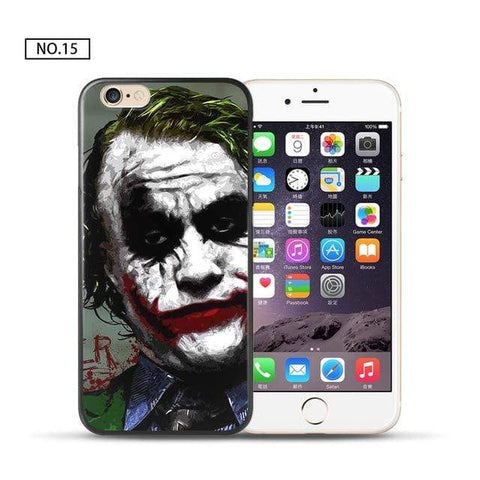 Comics-Joker for iPhone 5 5S SE / 15 For coque iPhone 6S case Joker for iPhone X case 2018 new arrivals for fundas iPhone XR case 5 5S SE 6 7 8 Plus XS Max case Joker