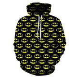 Sweat <br> Batman Logo Jaune et Noir