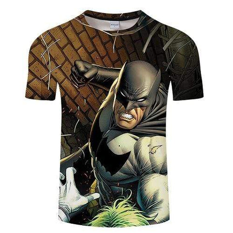 Suicide-Joker T-shirt Green / S T-shirt <br> Batman contre le Joker Joker