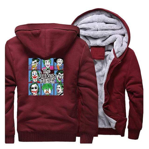 Suicide-Joker Wine Red / 4XL Veste Polaire Joker <br> L'Origine Joker