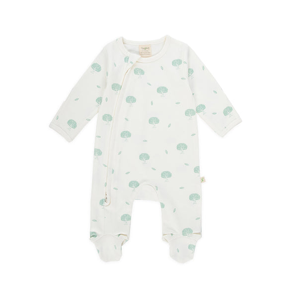 Wish Tree Organic Side Zipsuit with Feet