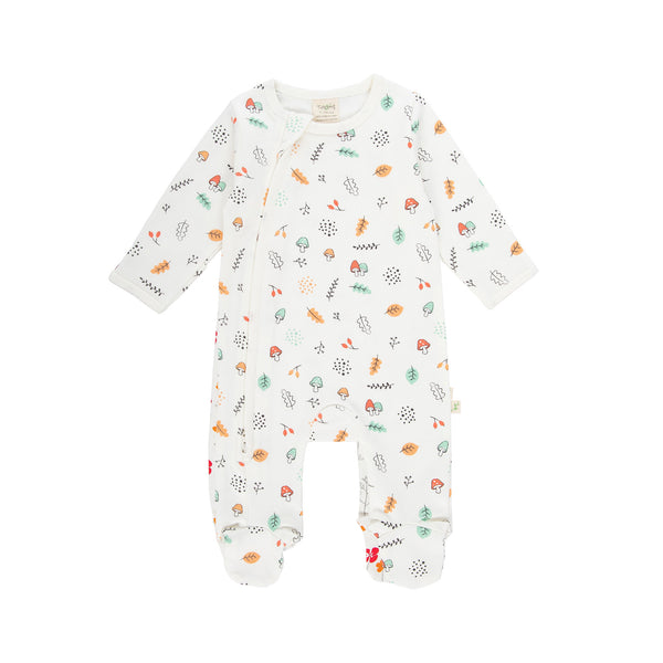Autumn Harvest Organic Side Zipsuit with Feet