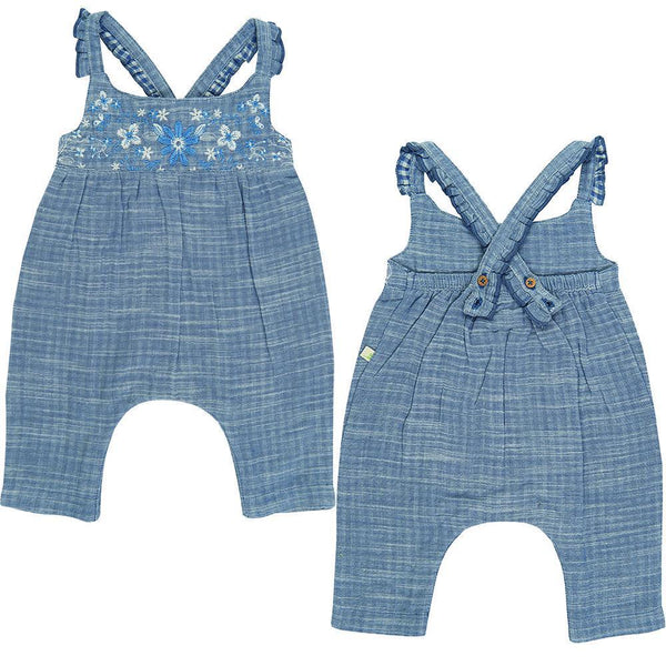 Blue Chambray Organic Roxanne Sunsuit
