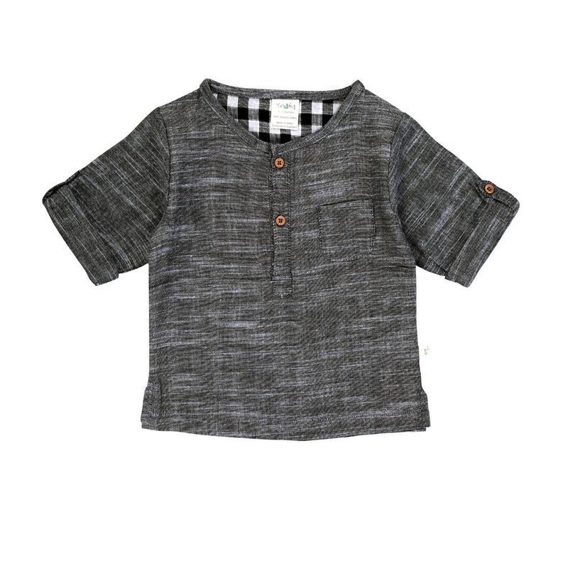 Grey Chambray Organic GrandPa Mac Shirt