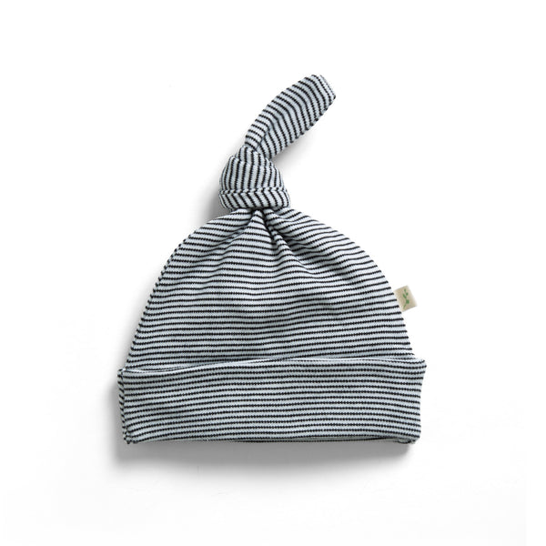 Graphite Stripes Organic Knotted Beanie