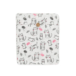 Organic Cotton - Baby Fitted Sheet - Crafty Cat - Girls