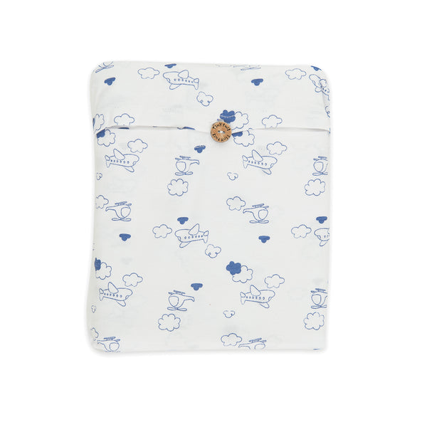 Organic Cotton -  Baby Fitted Sheet -  Flying High