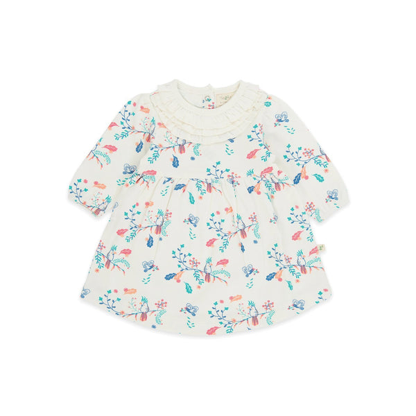 Organic Cotton -  Girls Cindrella Dress - Garden Floral