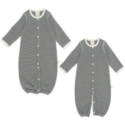 Diamond Stripes Organic Convertible Sleepsuit