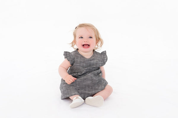 Grey Chambray  Organic Summer Dress