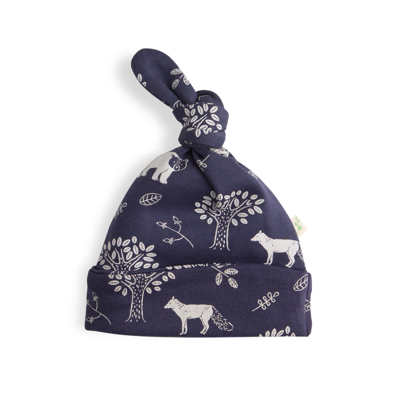 Forest Retreat Boys Organic Knotted Beanie