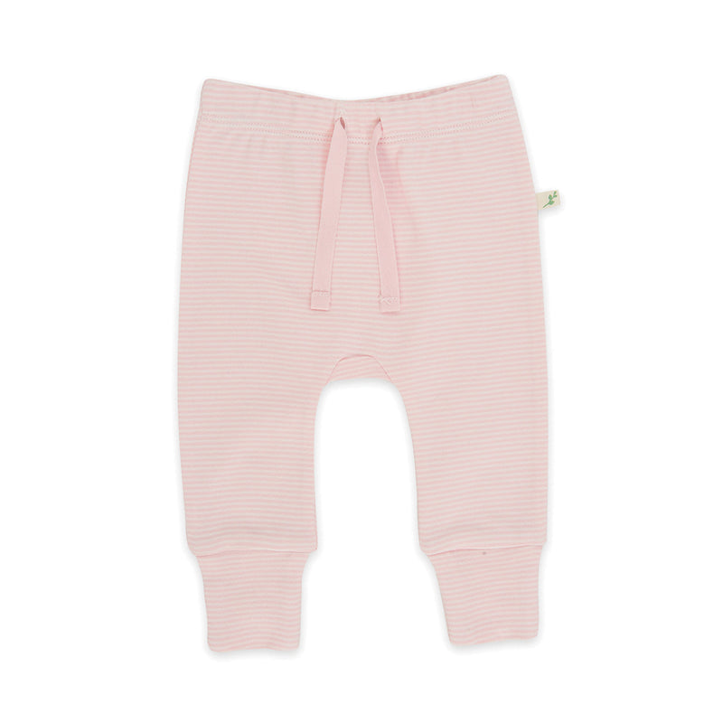 Pink Stripes Organic Harem Pant with Cuff