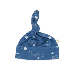 Organic Cotton -  Baby Knotted Beanie -  Flying High