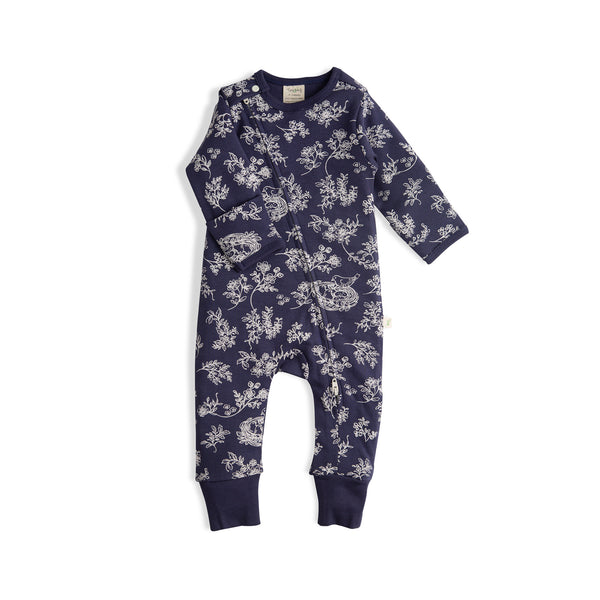Little Birds Girls Organic Long Sleeve Zipsuit