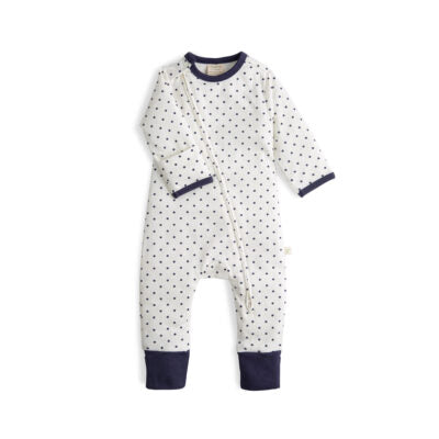 Polka Dots Organic Long Sleeve Zipsuit