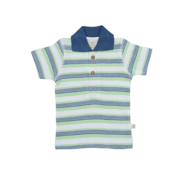 Organic Cotton - Polo Tee- Cactus Stripes -