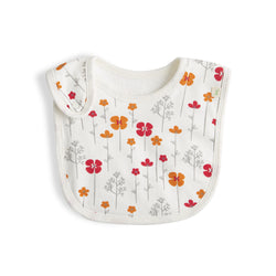 Rose Bouquet Girls Organic Bib
