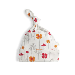 Rose Bouquet Girls Organic Knotted Beanie