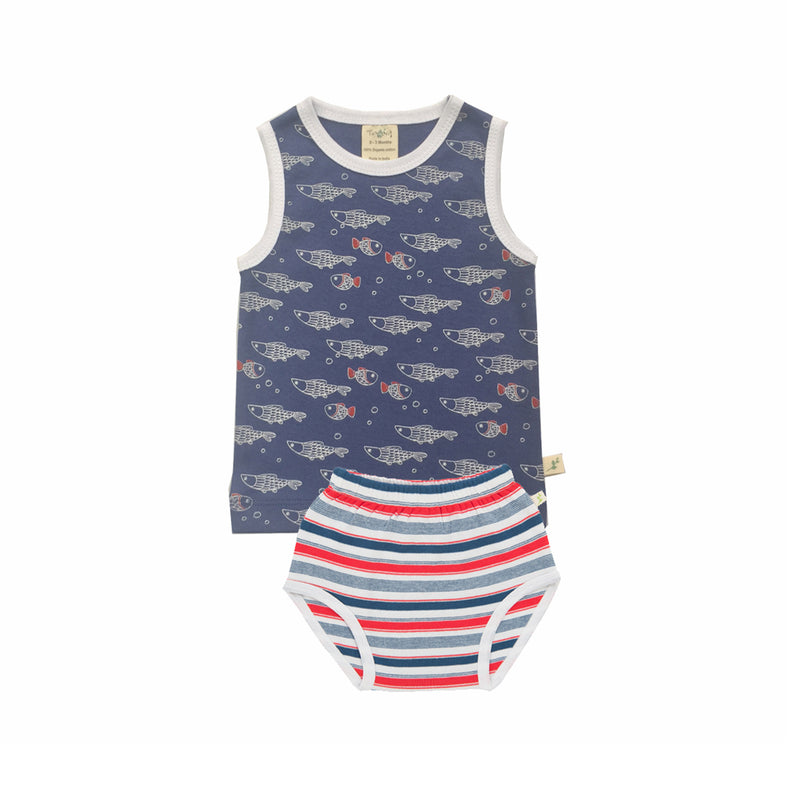 Little Fish Organic Singlet Set