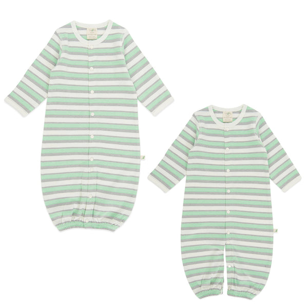 Organic Cotton Baby sleepsuit - Cedar Stripes