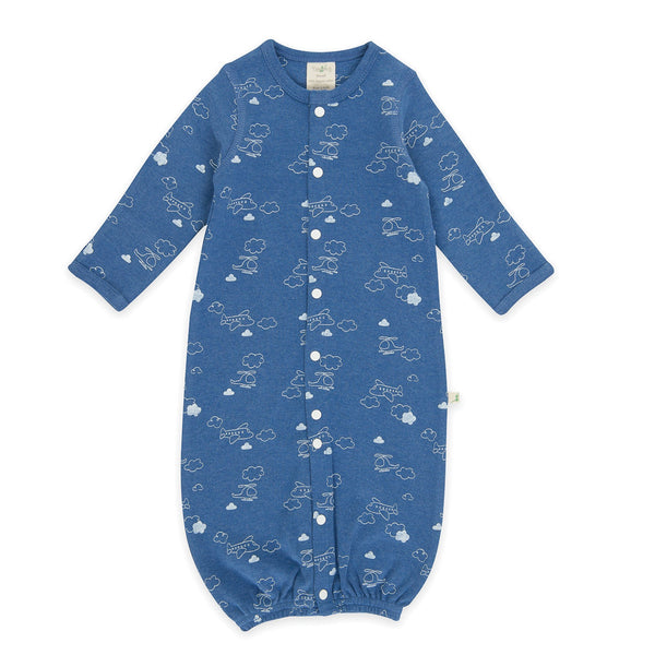 Organic Cotton  - Baby Sleepsuit -  Flying High