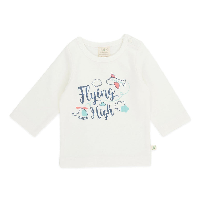 Organic Cotton -  Baby Round Neck Tee-  Flying High