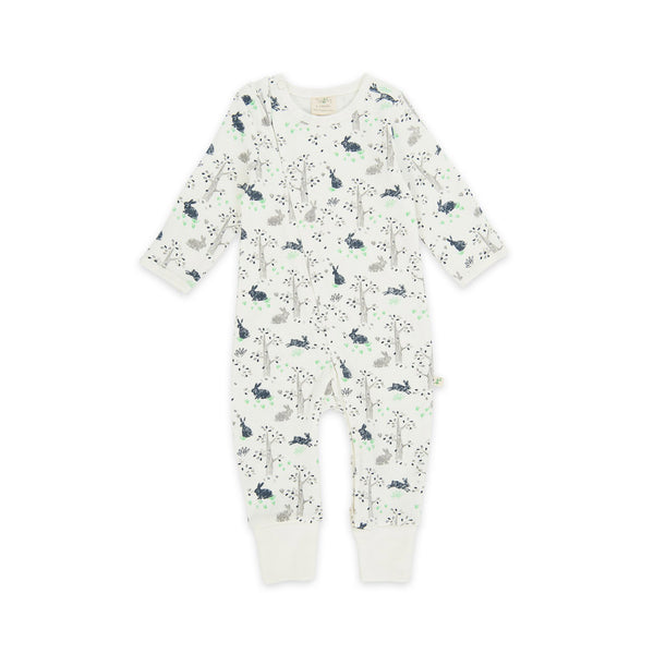 Organic Cotton - Baby Long Sleeve Zipsuit - Garden Helper