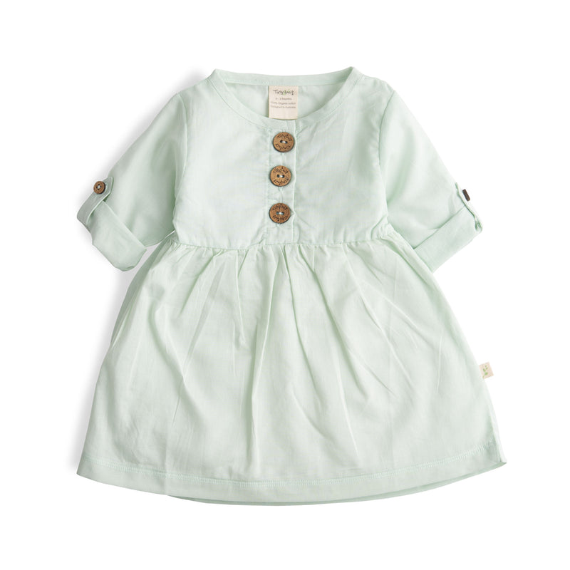 Ocean Green Organic Olivia Dress+Bloomer