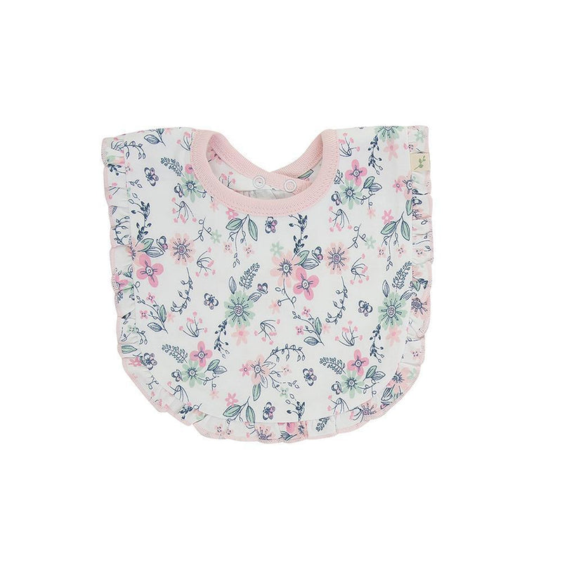 Organic Cotton Baby Bib - Pretty Petals