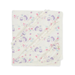 Organic cotton - Baby Blanket - Into the woods