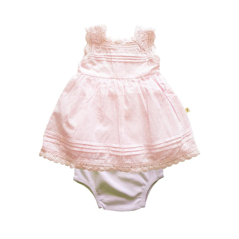 Organic Cotton Baby Blossom Dress - Soft Pink