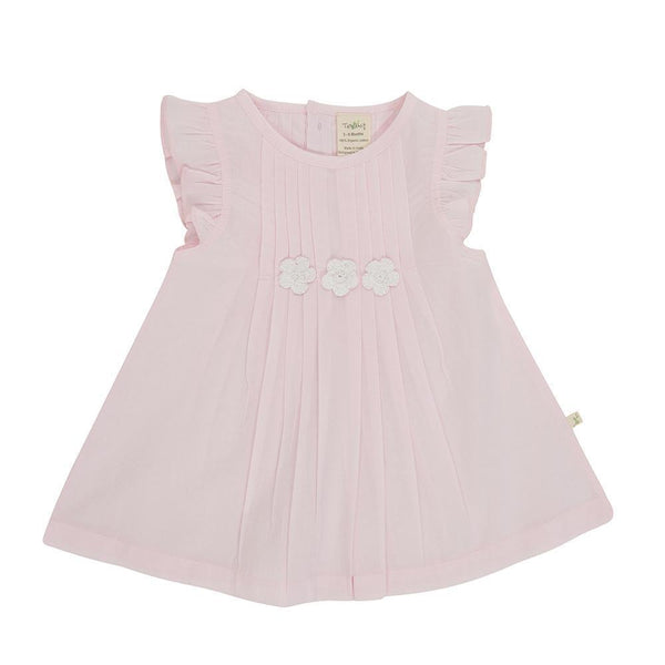 Organic Cotton Baby Vienna Dress - Marshmallow