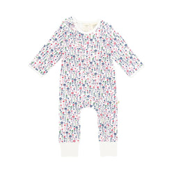Organic Cotton Baby Long Sleeve Zipsuit - Ptetty Floral