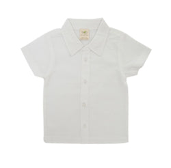 Organic Cotton Baby Woven Shirt - White