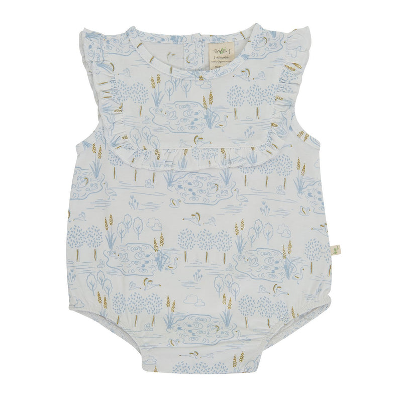 Organic Cotton - Girl Baby Dress - Lake side