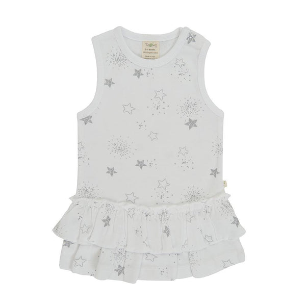 Organic Cotton Baby Girl Dress - Little Stars