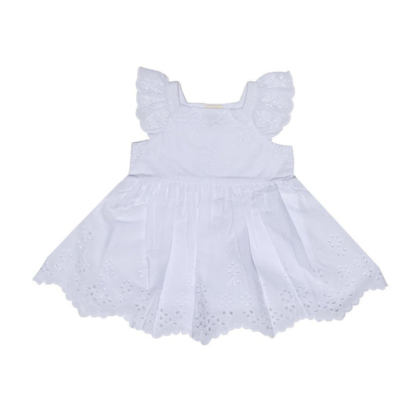 Organic Cotton Baby Garden Dress - White