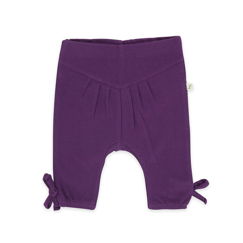 Organic Cotton Baby Girl - Pant - Plum